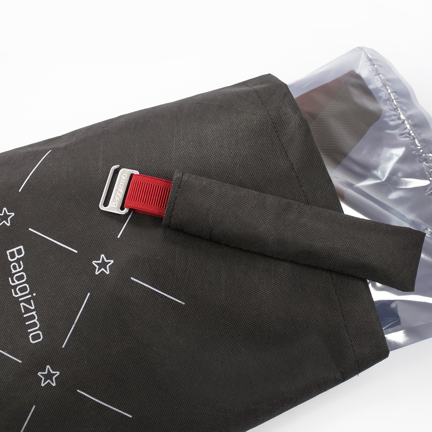 Baggizmo textile buckle in gift packaging