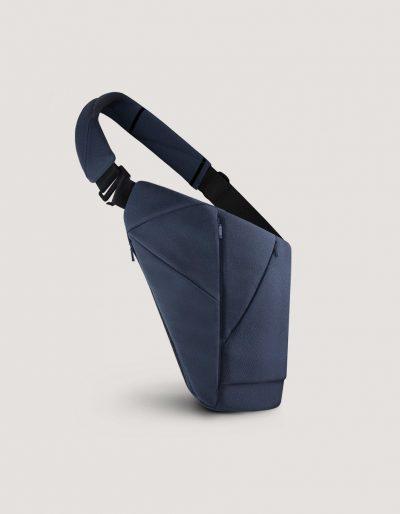 Blue textile crossbody bag by Baggizmo