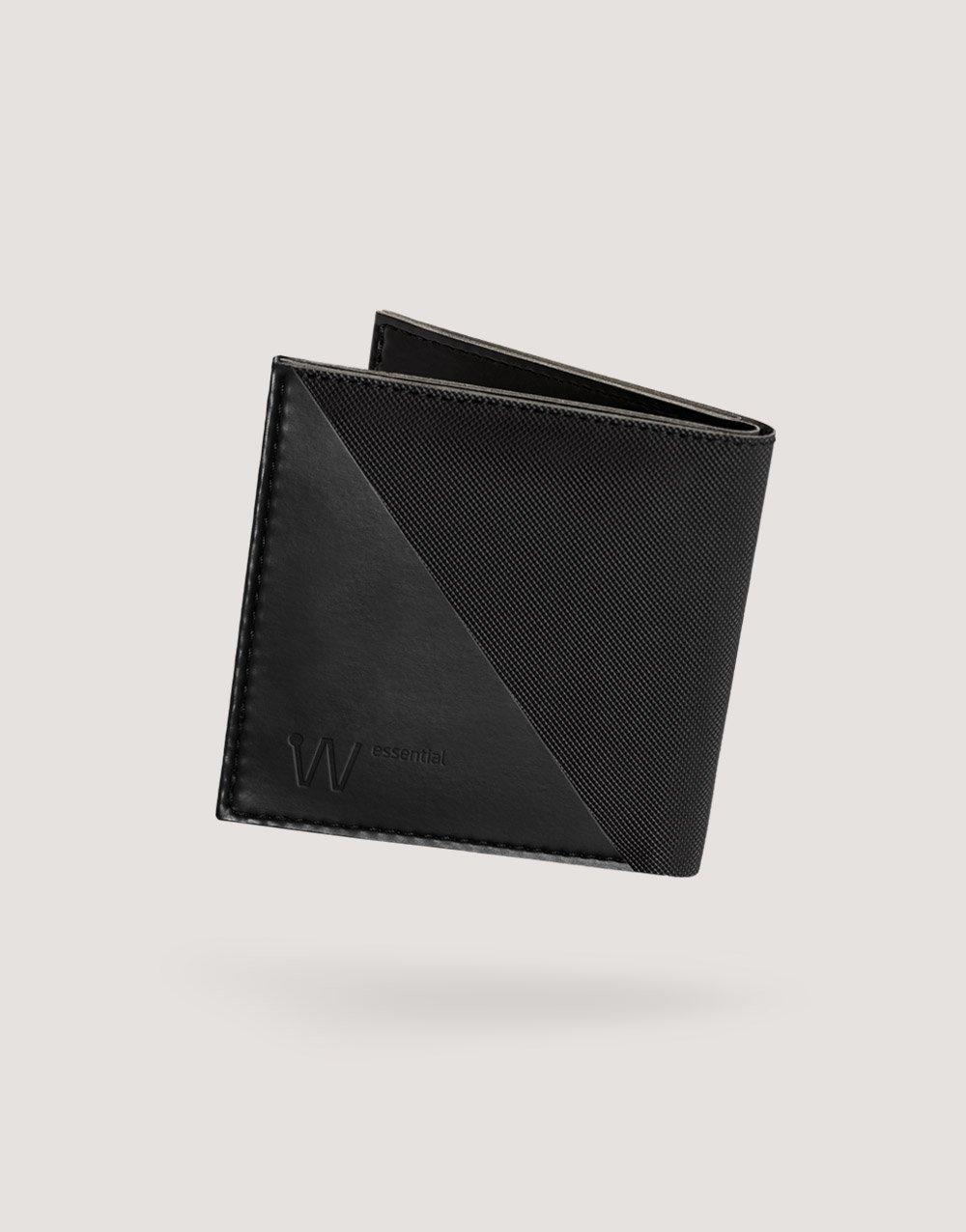 Baggizmo Wiseward Essential RFID protected wallet in jet black color