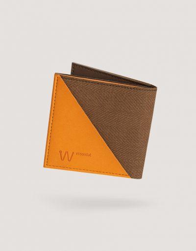 Baggizmo Wiseward Essential RFID protected wallet in pumpkin vintage brown color