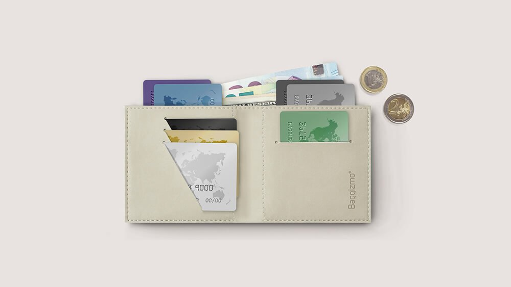 What fits inside Baggizmo Wiseward Essential wallet, credit cards, cash