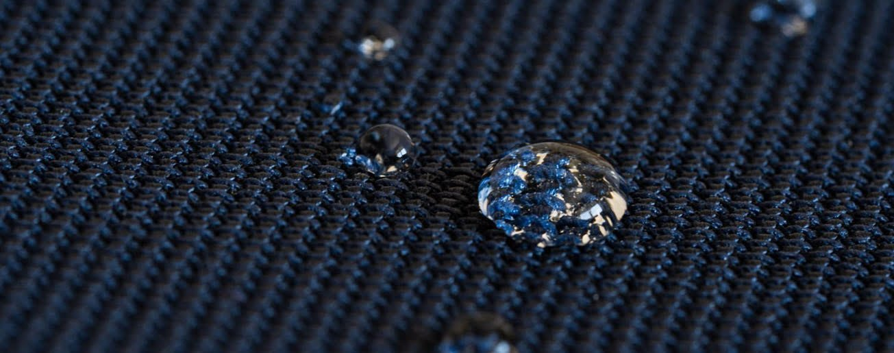 Water-repellent innovative Swiss Schoeller textile