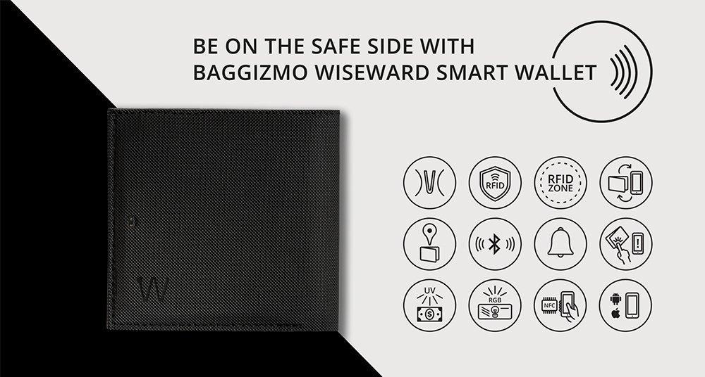 Black Baggizmo smart wallet