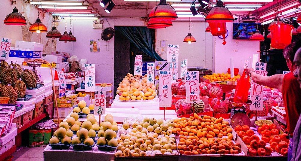 Wet markets in Hong Kong