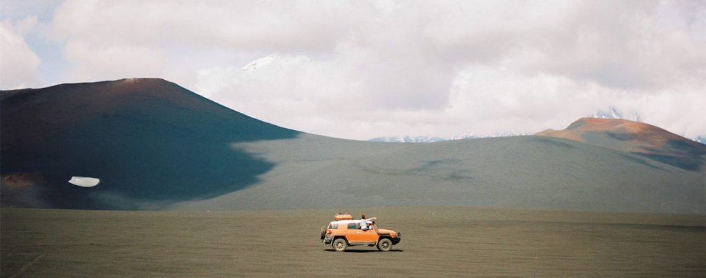 SUV in a desert